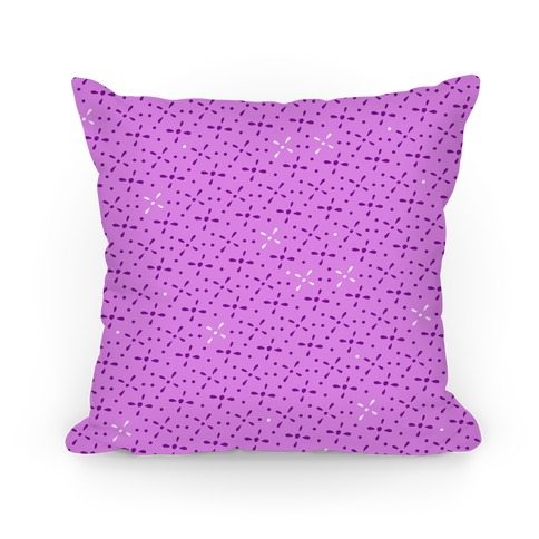 Purple Abstract Floral Pattern Pillow