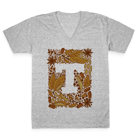 The Letter Tea V-Neck Tee Shirt