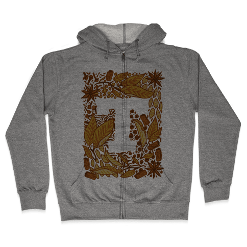 The Letter Tea Zip Hoodie