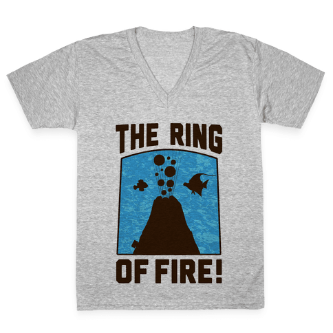 The Ring of Fire V-Neck Tee Shirt