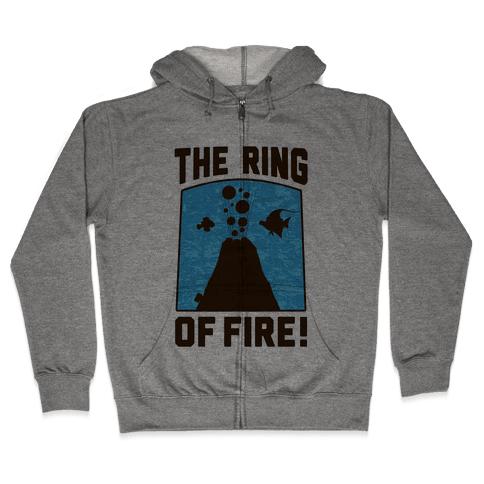 The Ring of Fire Zip Hoodie