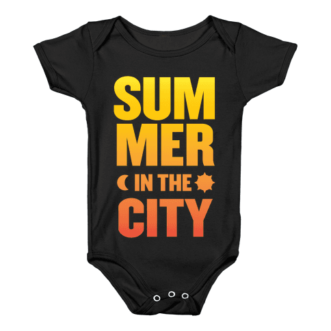 Summer In The City Baby Onesy