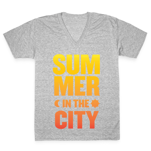 Summer In The City V-Neck Tee Shirt
