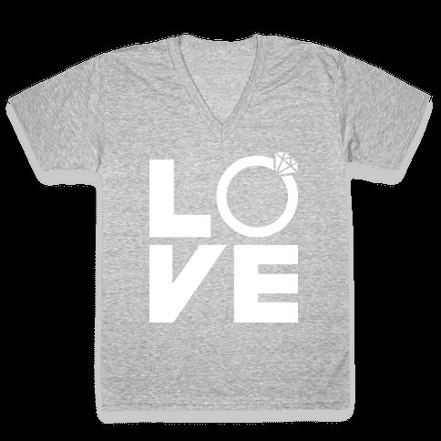L (Ring) V E V-Neck Tee Shirt