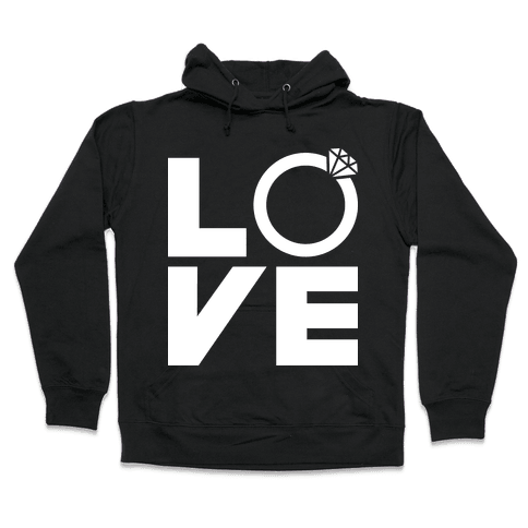 L (Ring) V E Hooded Sweatshirt