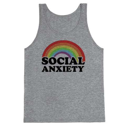 Social Anxiety Rainbow Tank Top