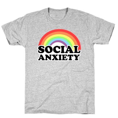 Social Anxiety Rainbow T-Shirt