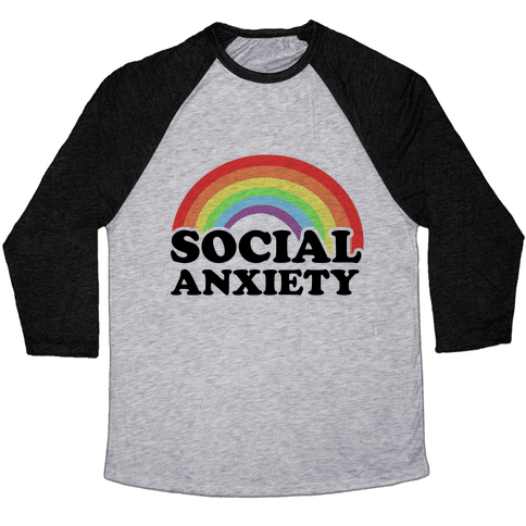 Social Anxiety Rainbow Baseball Tee