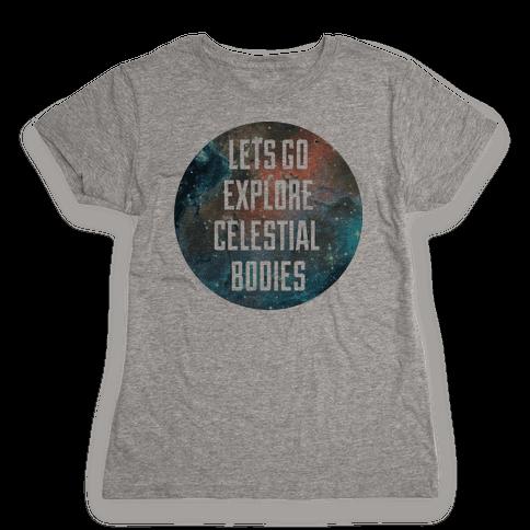 Celestial Bodies Womens T-Shirt