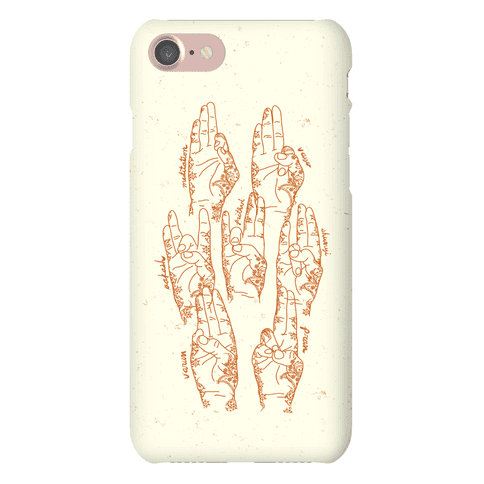 Healing Yoga Mudras Phone Case