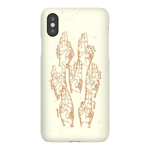 Healing Yoga Mudras Phone Case