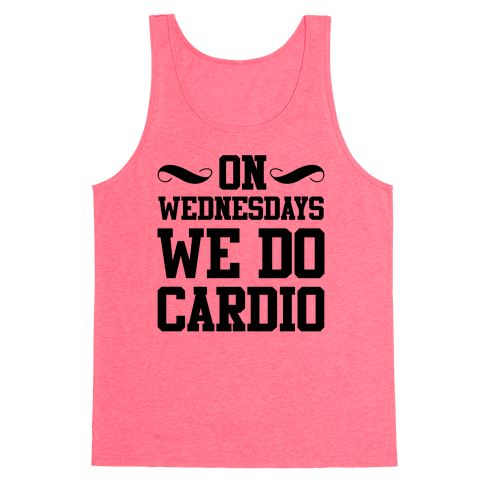 On Wednesdays We Do Cardio Tank Top