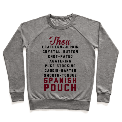 Shakespearean Insults Pullover