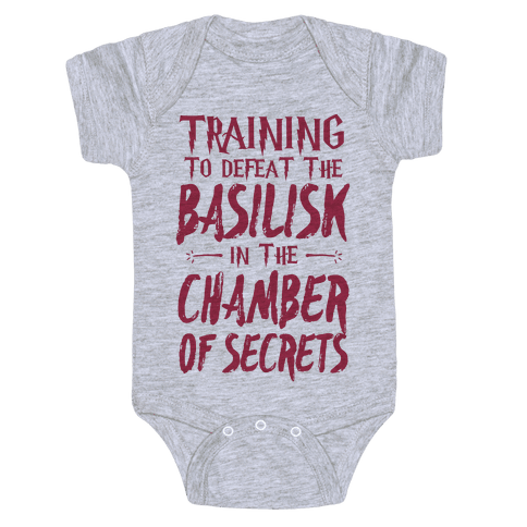 Training to Defeat the Basilisk in the Chamber of Secrets Baby Onesy
