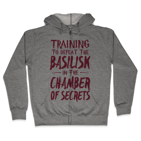 Training to Defeat the Basilisk in the Chamber of Secrets Zip Hoodie
