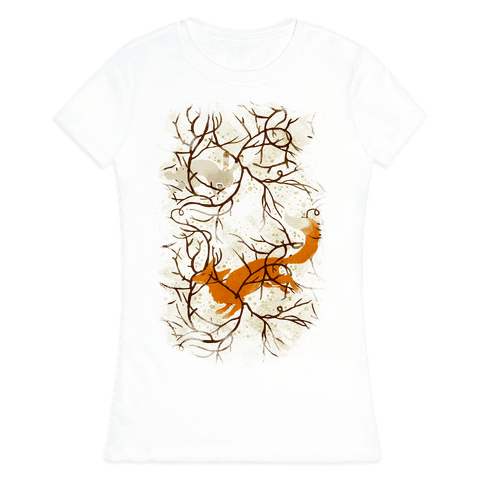 Rabbit And The Fox Chase Womens T-Shirt