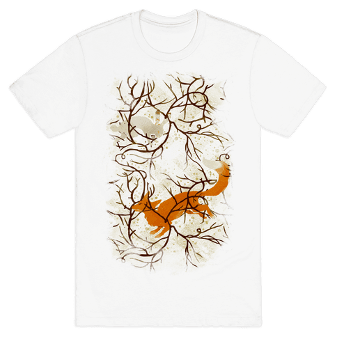 Rabbit And The Fox Chase Mens T-Shirt