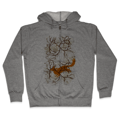 Rabbit And The Fox Chase Zip Hoodie