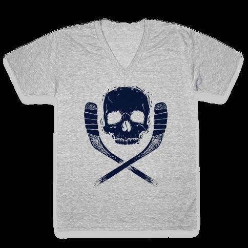 Hockey Roger V-Neck Tee Shirt