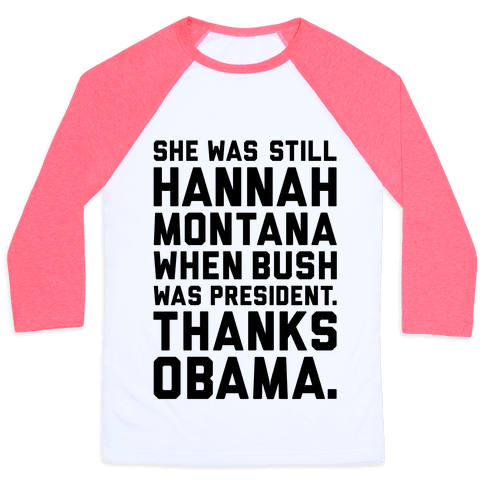 Thanks Obama Baseball Tee