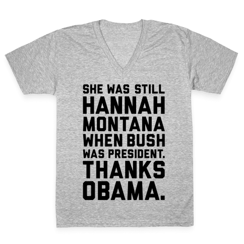 Thanks Obama V-Neck Tee Shirt