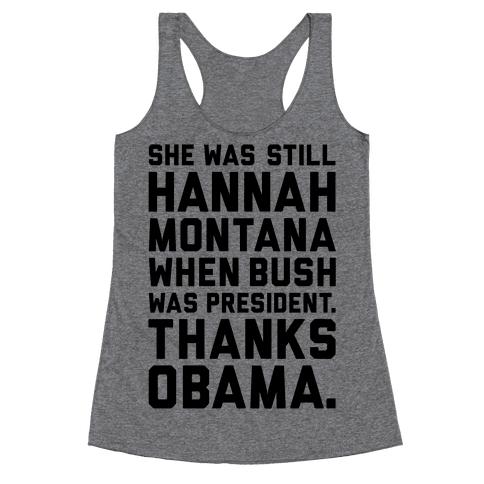 Thanks Obama Racerback Tank Top