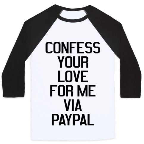Confess Your Love Baseball Tee