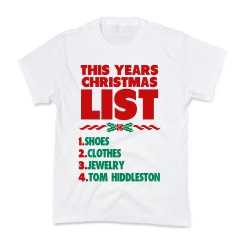 Tom is on my List Kids T-Shirt