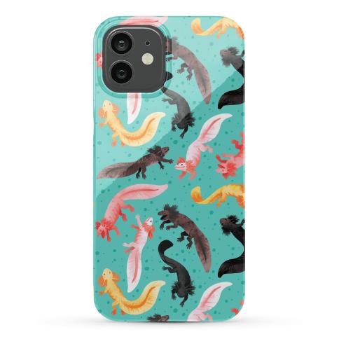 Cute Bright Axolotl Pattern Phone Case