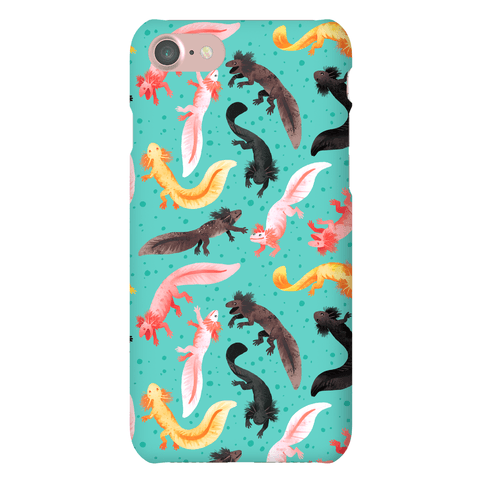 Cute Bright Axolotl Pattern Phone Case