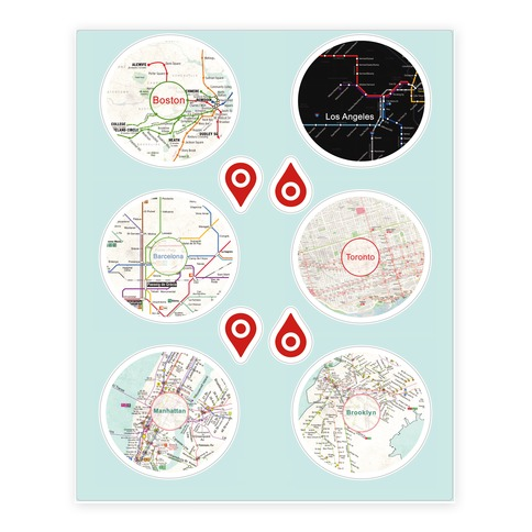 Transit Map Sticker and Decal Sheet