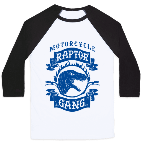 Motorcycle Raptor Gang Baseball Tee