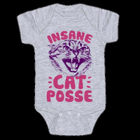 Insane Cat Posse Baby Onesy