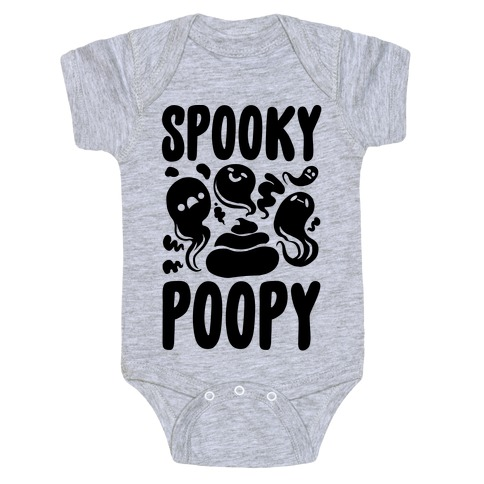 Spooky Poopy Baby Onesy