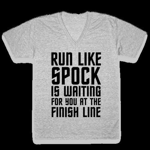Run Like Spock V-Neck Tee Shirt