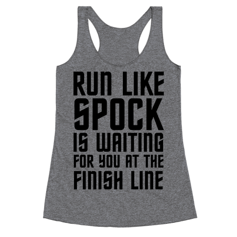 Run Like Spock Racerback Tank Top