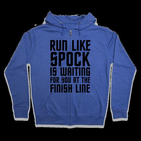 Run Like Spock Zip Hoodie