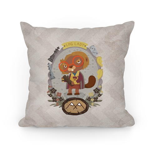 Log Lady Beaver Pillow