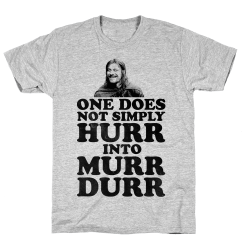 Derp Boromir Mens T-Shirt
