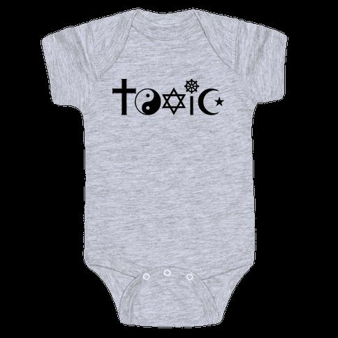 Toxic Religion Baby Onesy