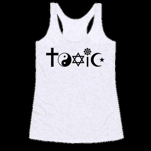 Toxic Religion Racerback Tank Top