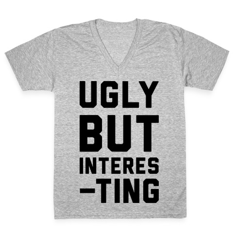 Ugly But Interesting V-Neck Tee Shirt