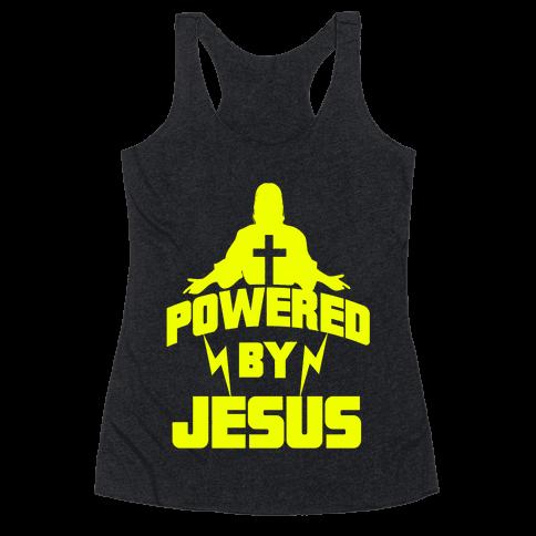 Powered By Jesus Racerback Tank Top