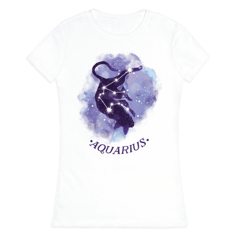 Cat Zodiac: Aquarius Womens T-Shirt