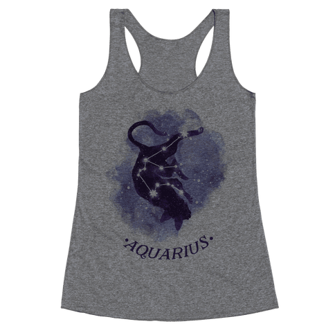 Cat Zodiac: Aquarius Racerback Tank Top