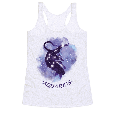Cat Zodiac: Aquarius Racerback Tank Top