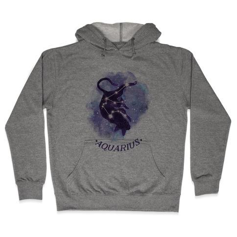 Cat Zodiac: Aquarius Hooded Sweatshirt