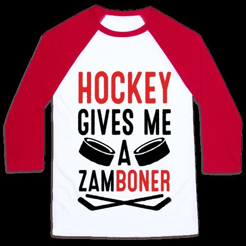 Hockey Gives Me A Zamboner Baseball Tee