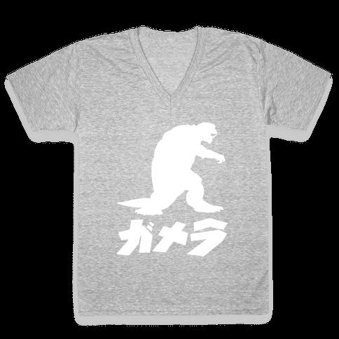 Gamera V-Neck Tee Shirt