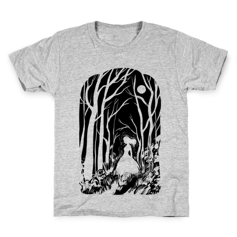 Ghost In The Woods Kids T-Shirt